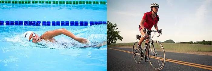 Swimming and Biking