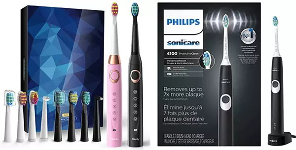 Sboly and Philips Electric Toothbrushes