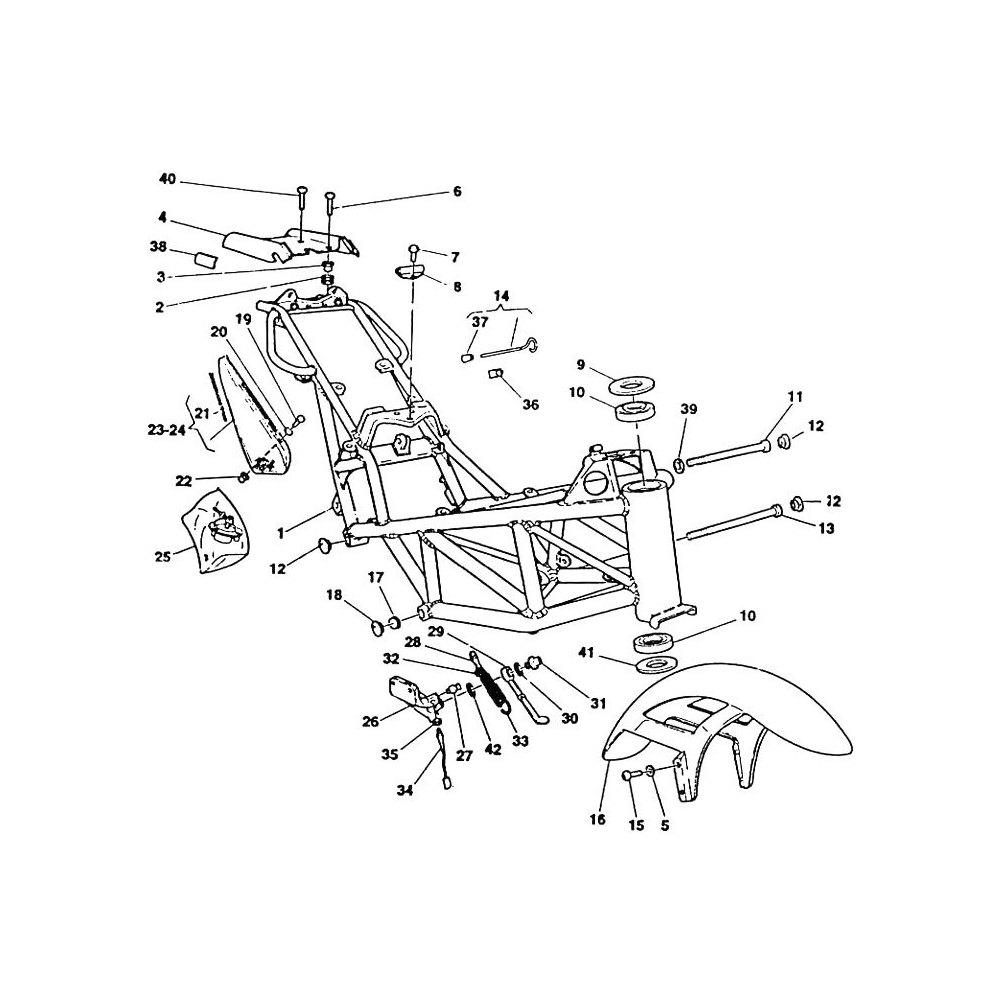 Steering stem bearing Ducati Monster 900 kit