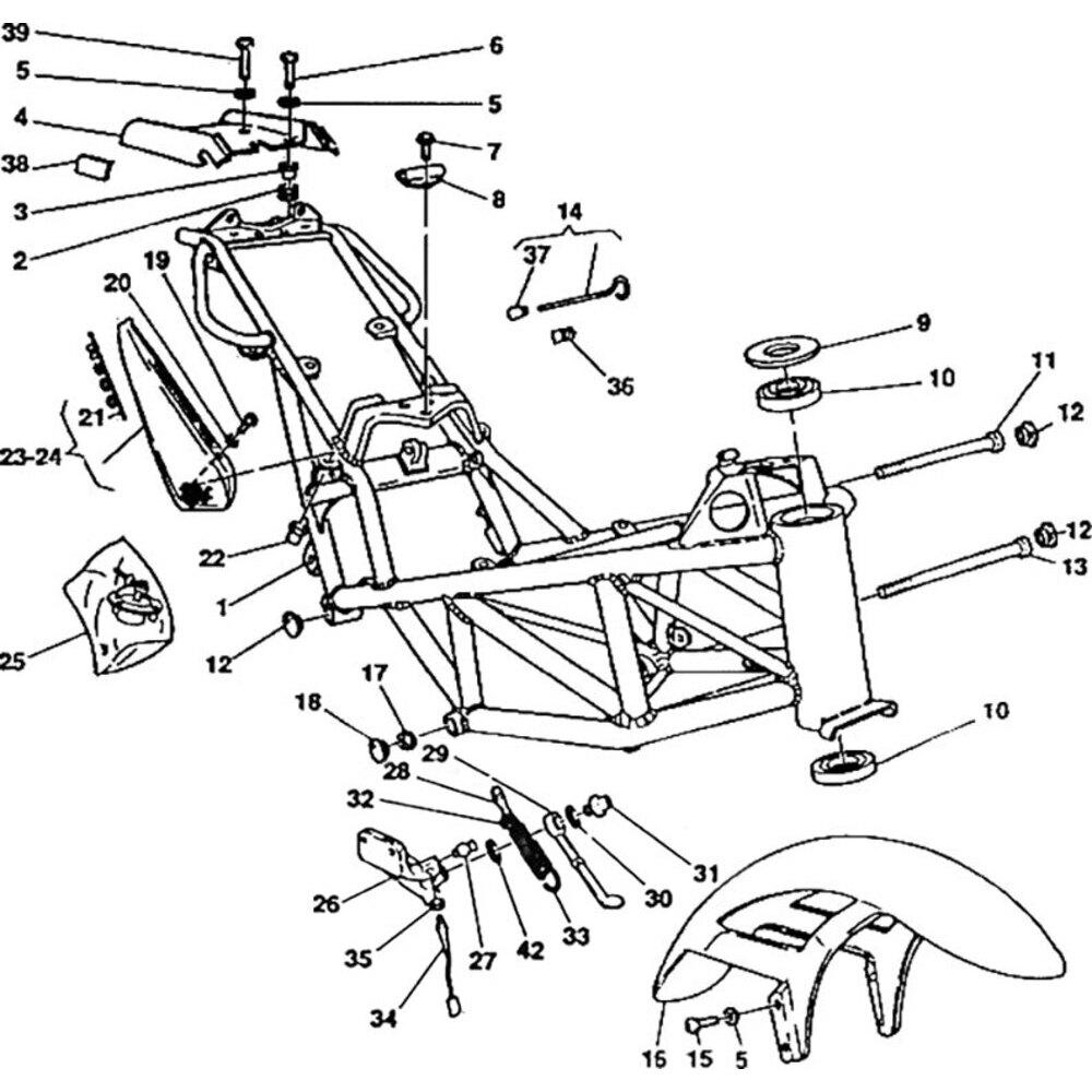 Steering head bearing dust seal Ducati Monster 900 top