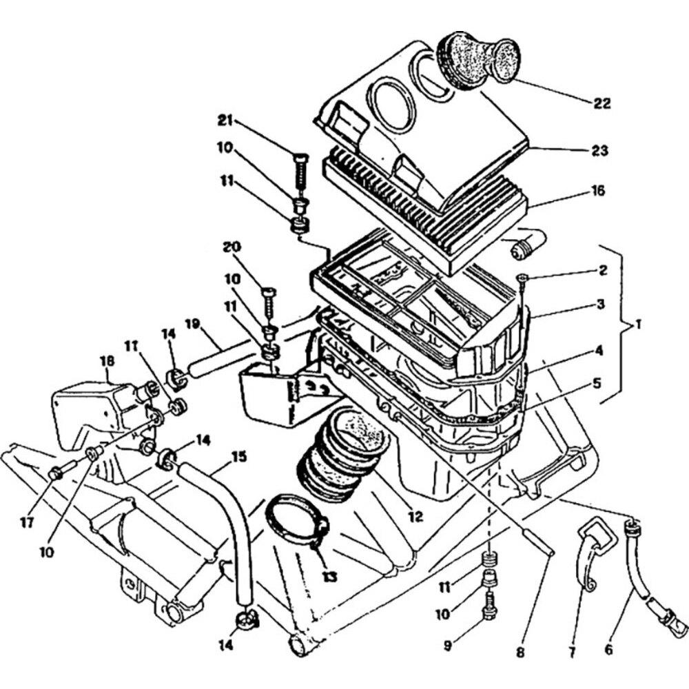 Air filter box fastener hook Ducati Monster 900
