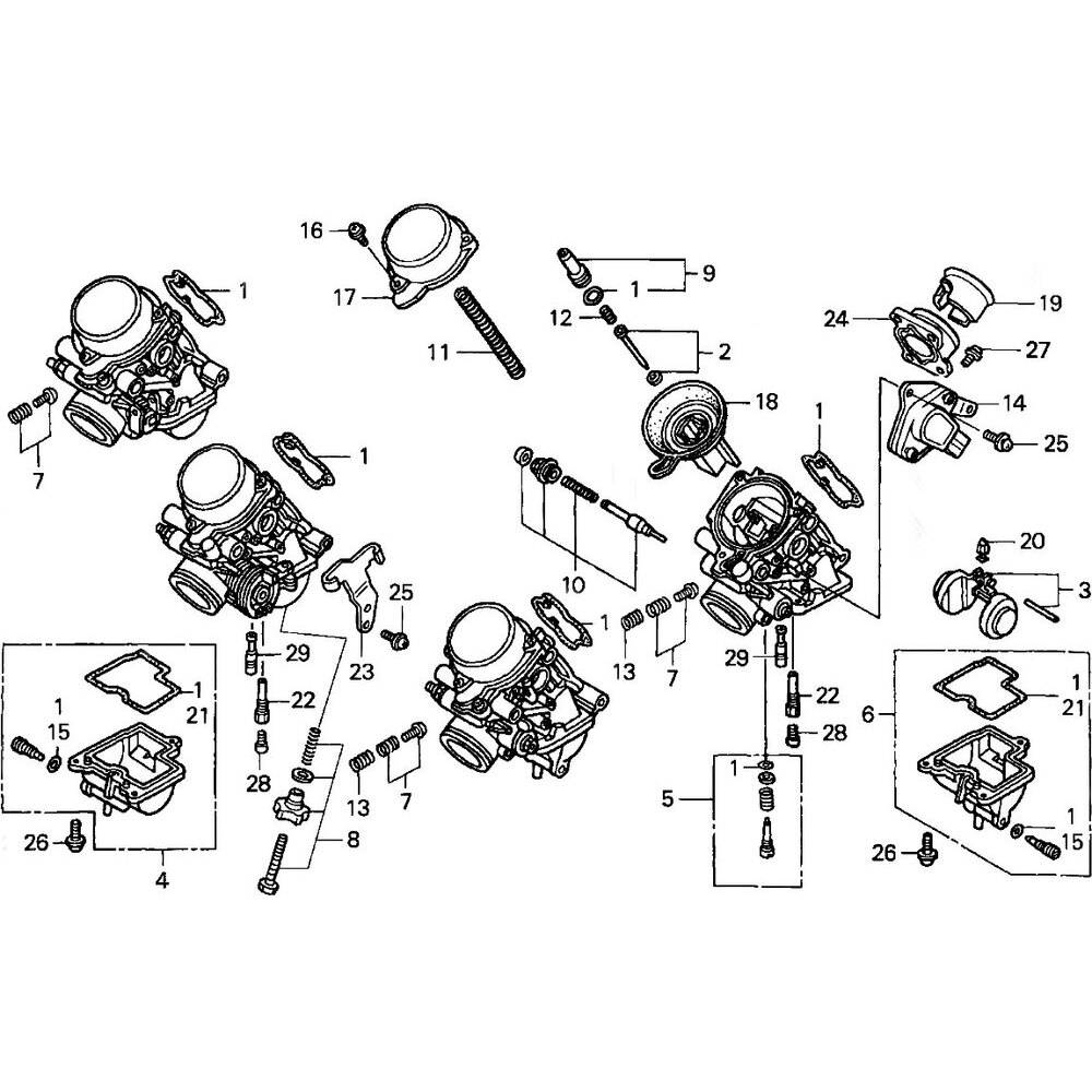 Kit revisione carburatore per Honda CB 600 F Hornet '00