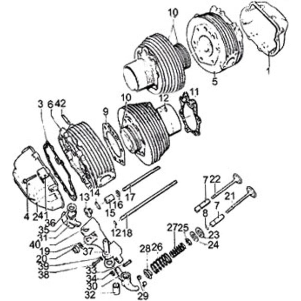 Guarnizione coperchio testata motore per Moto Guzzi Serie