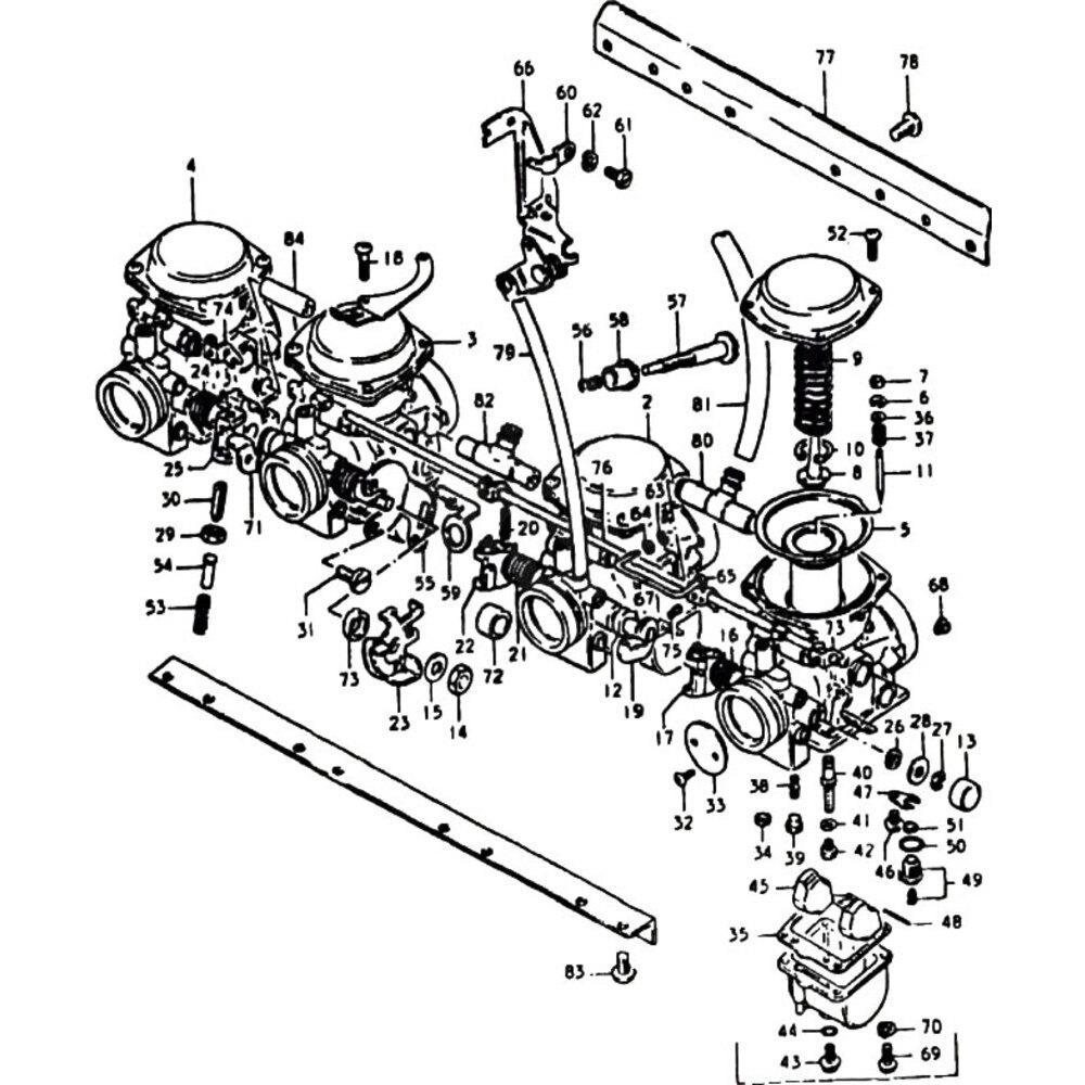 Kit revisione carburatore per Suzuki GS 850 G '80-'81