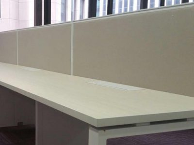 M.O.G. Space Pte Ltd - BO Series Workstation with 40mm Fabric Panel