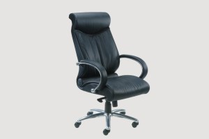 ergonomic high back office chair black leather seat chrome chair legs