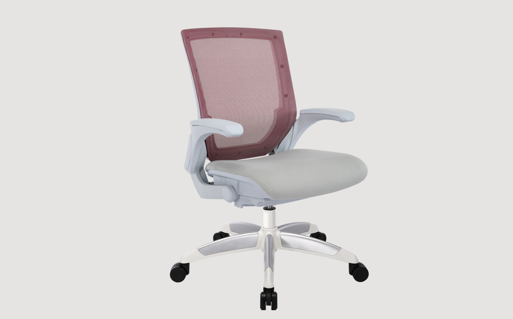 Chase Red Mesh Back Office Chair with white leg base