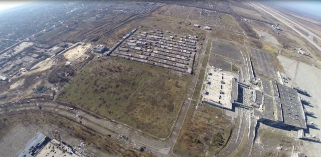 Aerial image of the Donetsk Sergey Prokofiev International Airport. SOS Army photo, end of October.