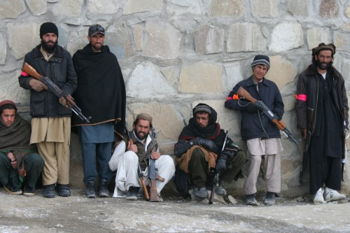 Afghan Local Police trainees, at Patrol Base Marzak, Jan. 21. 2012. David Axe photo.