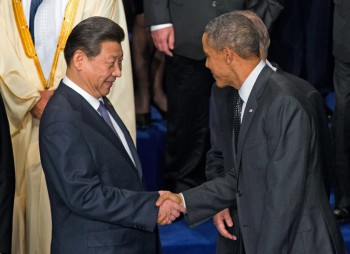 President Xi Jinping of China and President Obama in March 2014 in The Hague. They discussed the issue of computer spying (Photo: Doug Mills / The New York Times).