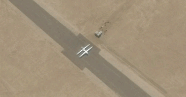 DigitalGlobe imagery from November 2014 shows ADCOM's United 40 Block 5 UAV at the company's test airstrip located south of Al Dhafra Airbase.