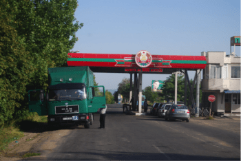 The Bendery border crossing between Transnistria and Moldova.