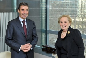 Bilateral meeting between NATO Secretary General, Anders Fogh Rasmussen and Madeleine Albright