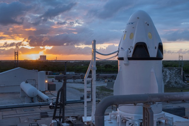 SpaceX's Crew Dragon, which will be a human-rated vehicle capable of making a terrestrial soft landing.