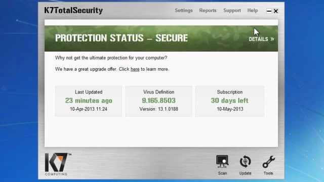 Download K7 Antivirus Offline Installer