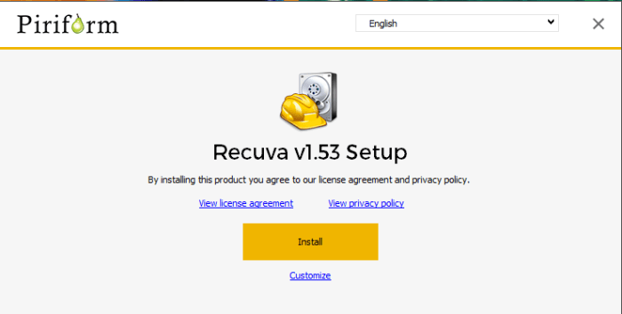Download Recuva Offline Installer