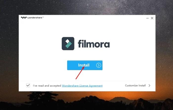 Filmora Offline Installer