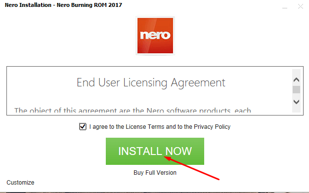 Download Nero Offline Installer