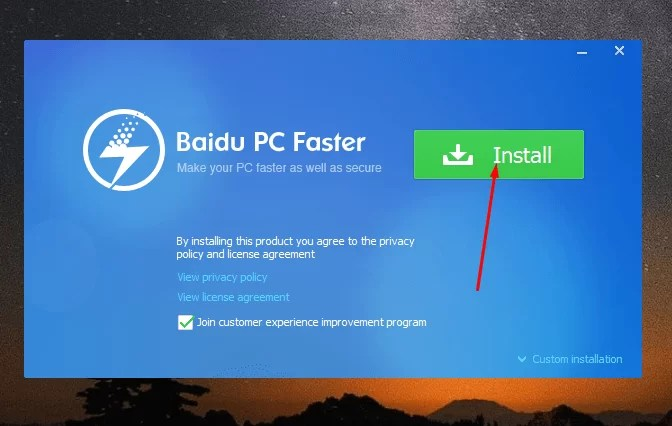 Download Baidu PC Faster Offline Installer