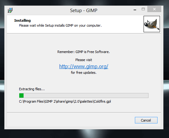 Download GIMP Offline Installer