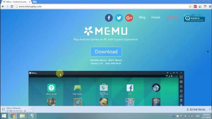 Download MEmu Offline Installer