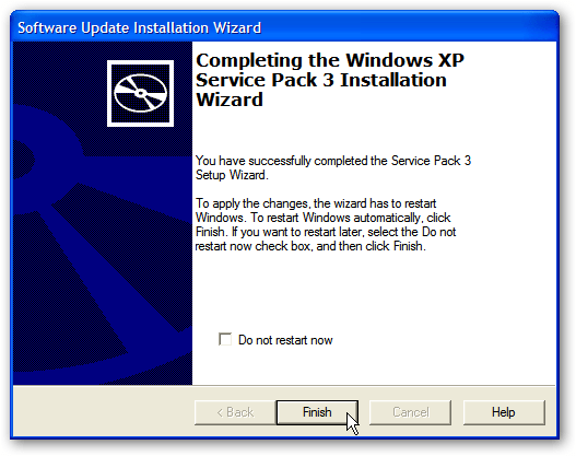 Download Windows XP Service Pack 3 Offline Installer