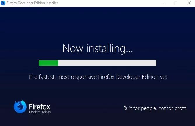Firefox Developer Edition Offline Installer