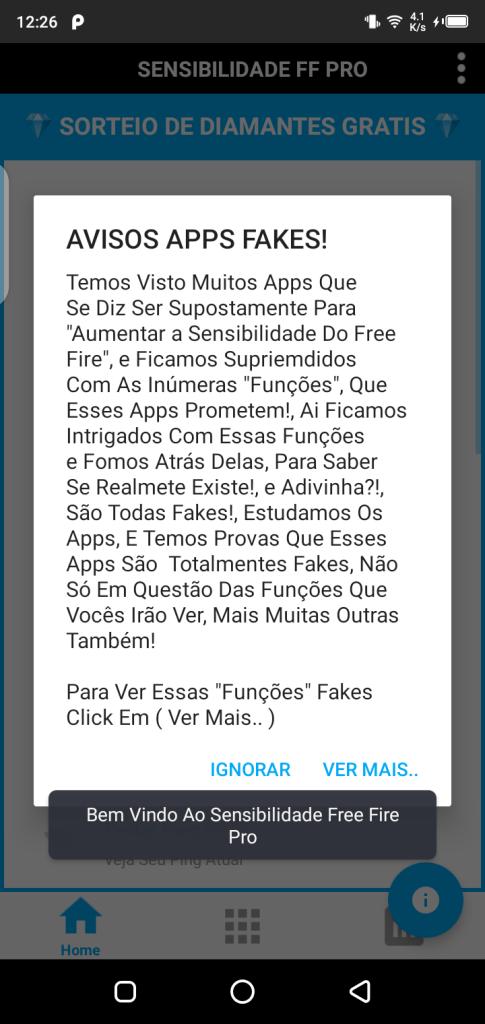 Screenshot of Sensibilidade FF Pro Apk