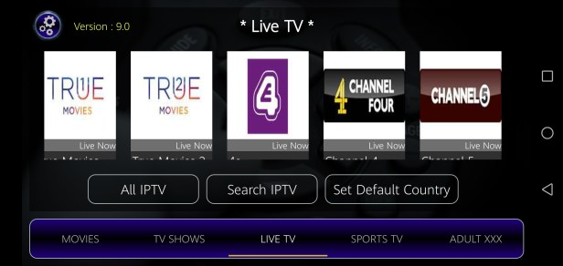 Screenshot of Strix TV App Apk