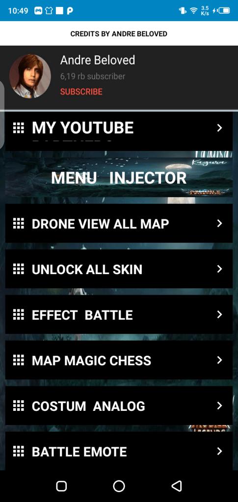 Screenshot of ML Plus Injector Apk
