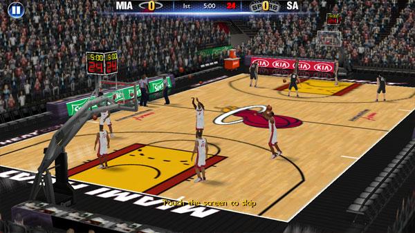 Screenshot of NBA 2k14 App