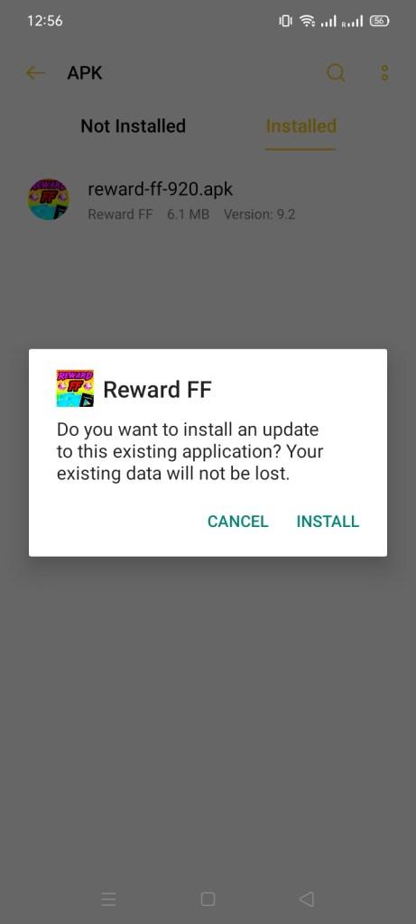 Screenshot of Reward FF