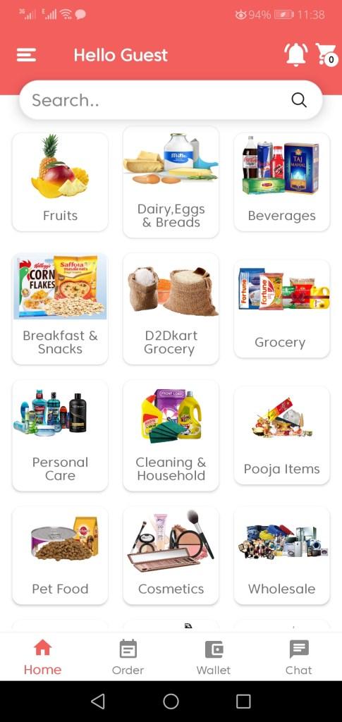 Screenshot of D2DKart App Apk