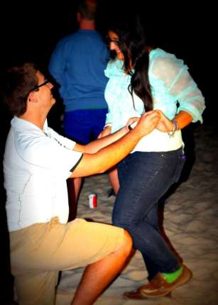 Me proposing to Adriana - April 12th, 2014