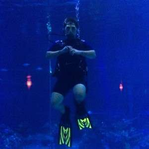 Our writer Jim during his DiveQuest - Orlando Fun and Food