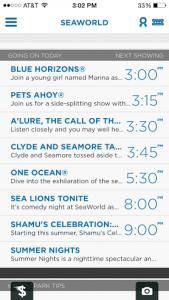 Seaworld mobile app 2