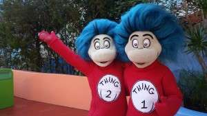 Thing 1 and Thing 2 saying hello to me and you!