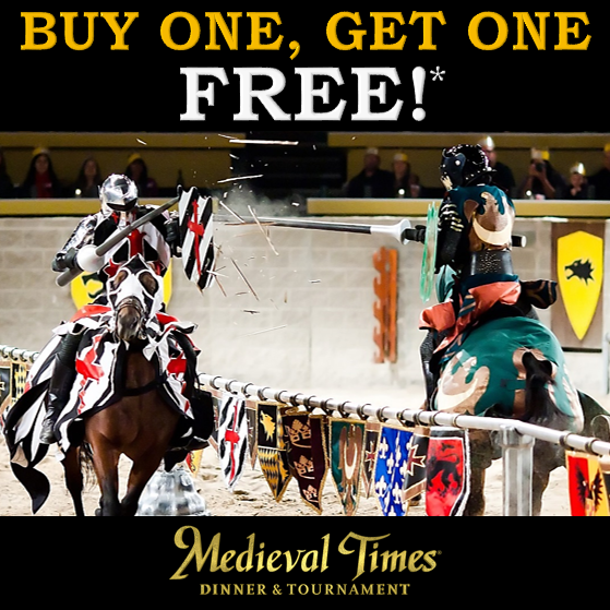 Get the medieval times best coupons and have the best time of your life! With medieval times best coupons, get the best seats at best price without any compromise. Save some amounts of money using the Medieval Times Coupons for both adults and children. Our discounts. For the avid show-lovers in Chicago, get discounts with the Medieval Times.