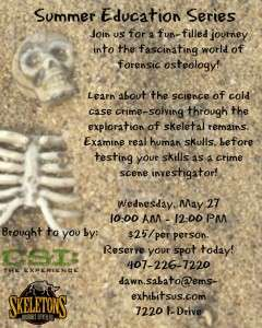 CSI and Skeletons Educational Flyer