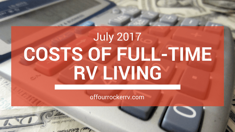 COSTS OF FULL-TIME RV LIVING_ JULY 2017