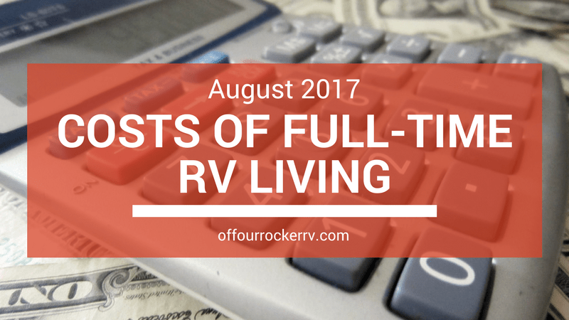 COSTS OF FULL-TIME RV LIVING_ AUGUST 2017