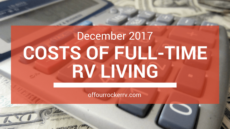 COSTS OF FULL-TIME RV LIVING_ DECEMBER 2017