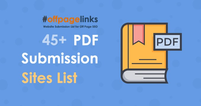 PDF Submission Sites List