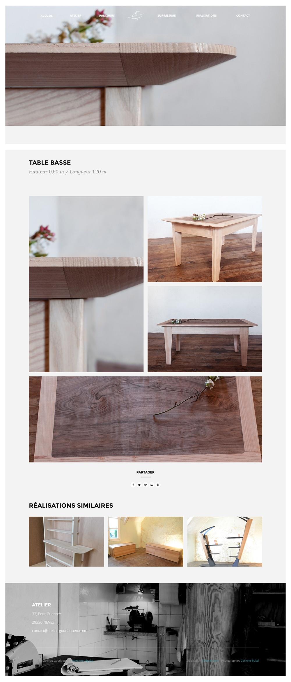 Table basse Atelier Gourlaouen