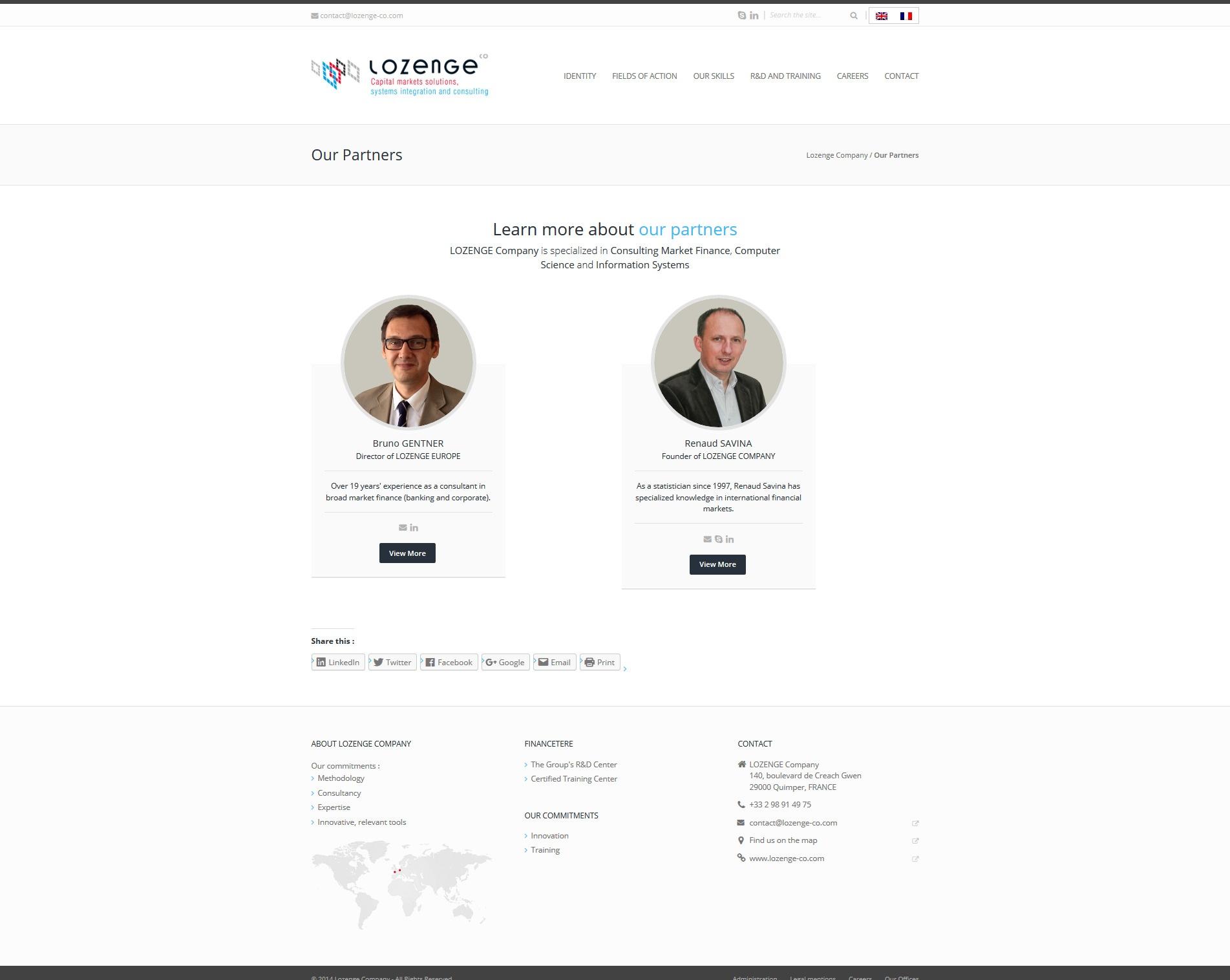 Lozenge Company - Partenaires