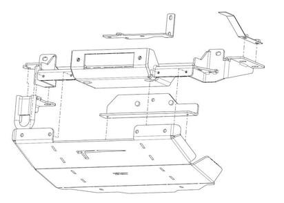 Seilwinden-Set Nissan Navara D23 NP300 inkl. UFS #29