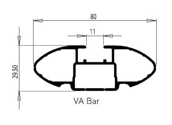 Rhino Rack Vortex Querträger 1260mm, schwarz