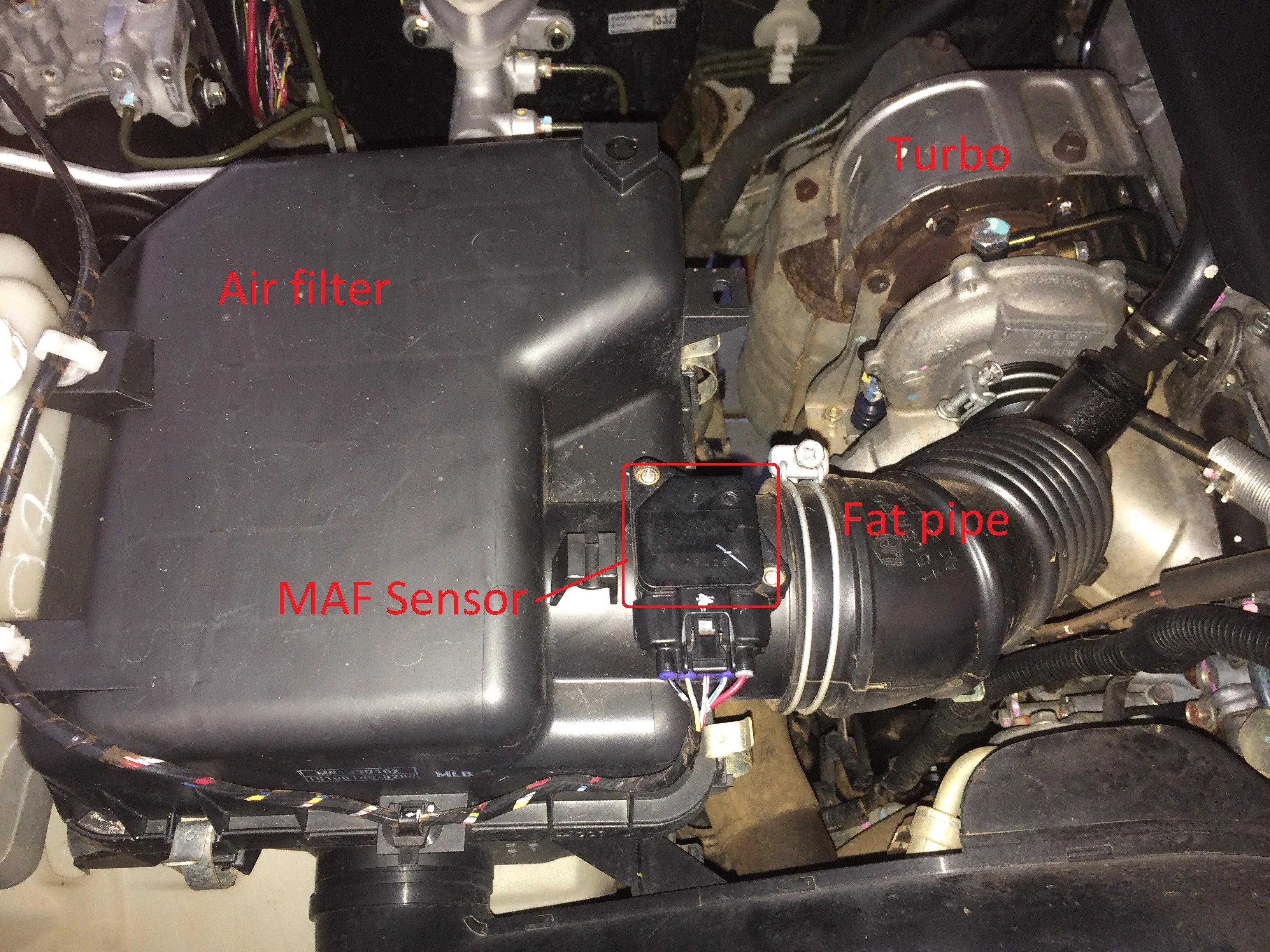 toyota hilux fog light wiring diagram how to make a plot mass air flow - cleaning the maf sensor offroad aussie