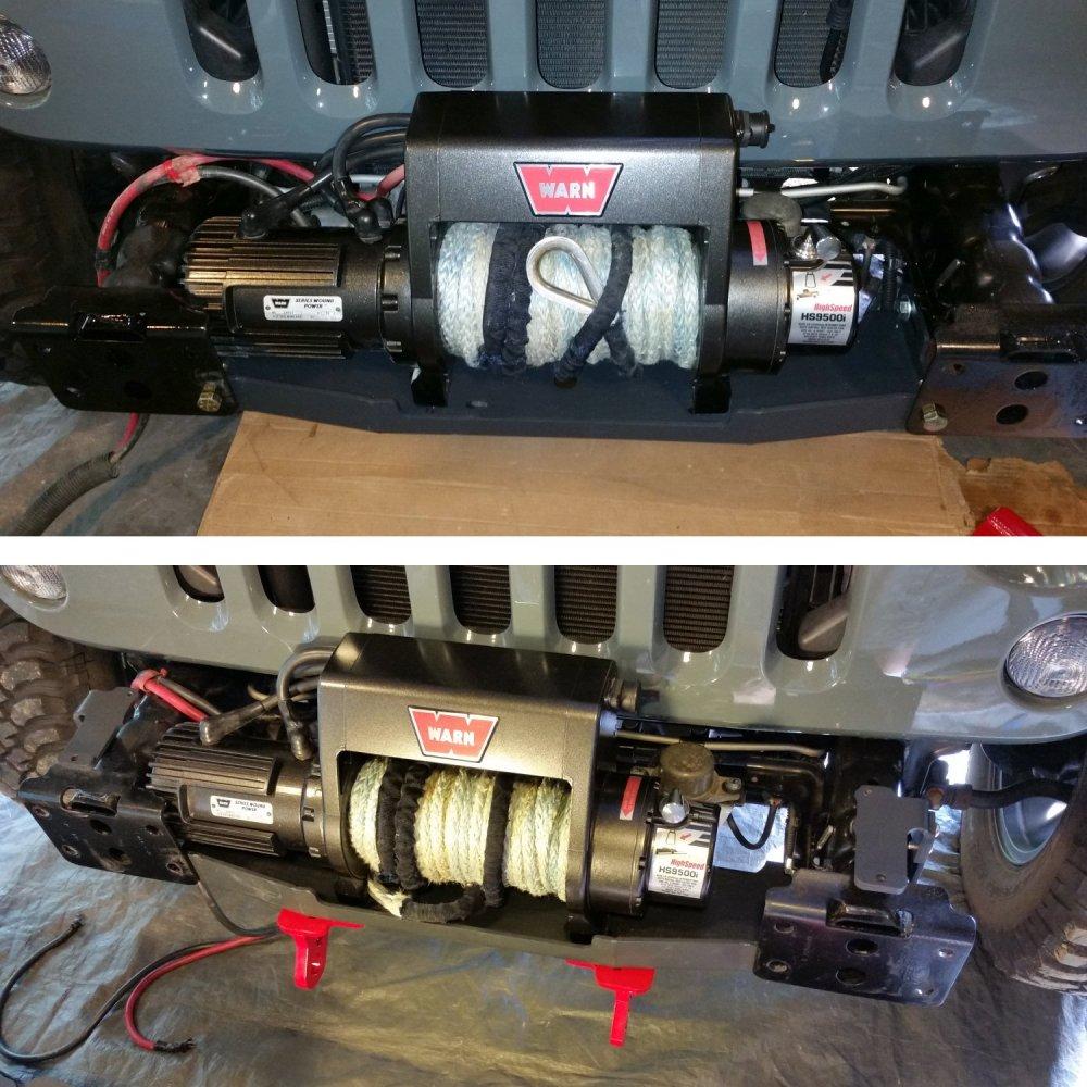 medium resolution of warn hs9500i installed on mount hs9500i on mount