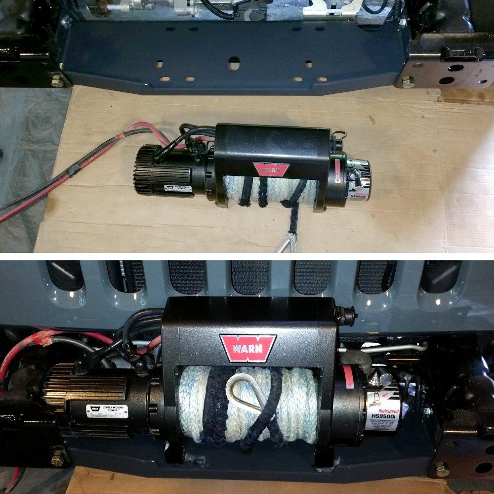 medium resolution of warn 9500i winch install